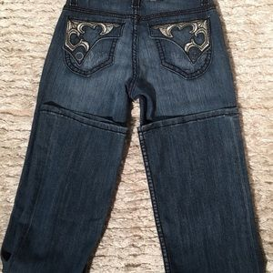 Cache Boot cut Jeans  SZ 2 NWT Embellished Pockets